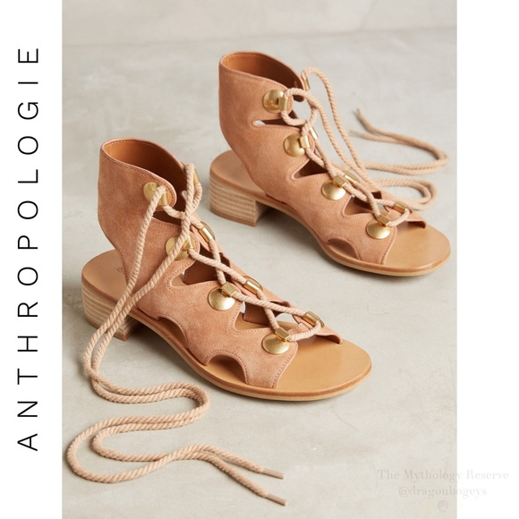 10b5c7b37f5 Anthropologie See by Chloé Edna Lace Up Sandals